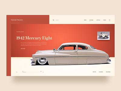 Custom Classic Lowriders lowrider custom cars cars daily ui inspiration clean ux ui dailyui typography modern web design grid
