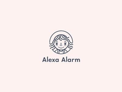 Raggedy Ann Doll Logo design - Alexa Alarm
