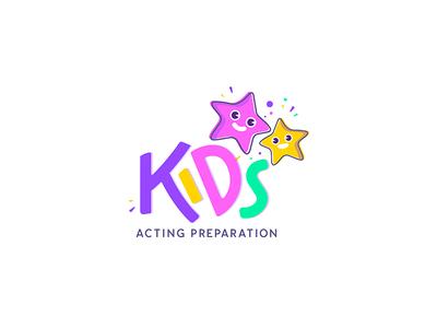 Kids Acting Preparation Logo Design - Opt 2