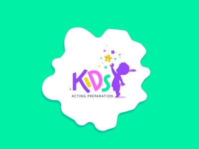 Kids Acting Preparation Logo Design - Opt 1