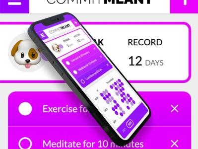 CommitMeant App app web branding ui