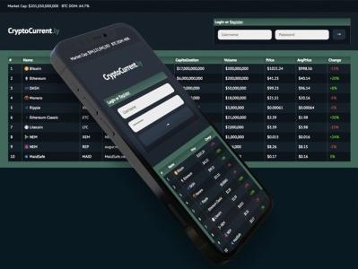 CryptoCurrent.ly web app branding ui