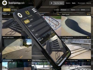 SkateSpotApp.com web app web ui branding ui