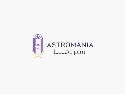 Astromania Podcast | Identity Design | KSA identity design design logodesign logo identity branding ibrahim-rady