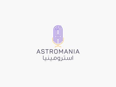 Astromania Podcast | Identity Design | KSA identity design ibrahimartwork logodesign design creative branding ibrahim-rady