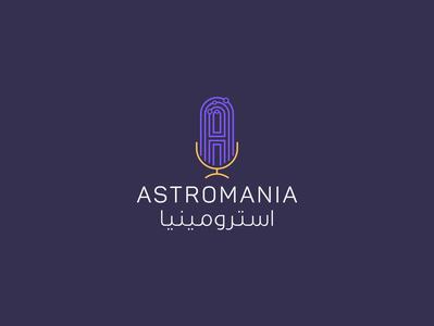Astromania Podcast | Identity Design | KSA identity ibrahimartwork design logodesign branding creative ibrahim-rady