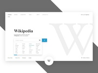 #Redesign   Wikipedia Search Page