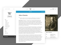 #Redesign   Wikipedia Article Page