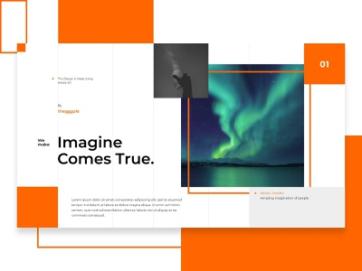 -Study | Imagine Comes True dream site landing story open reading website thinking inspiration learning concept literature modern wireframe app web adobe xd design ui interface