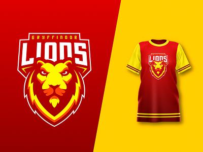 Gryffindor Lions harry potter gryffindor vector lion logo mascot design illustrator illustration