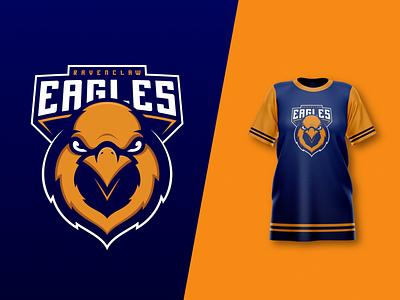 Ravenclaw Eagles jersey eagle colour sports logo mascot design vector illustrator illustration