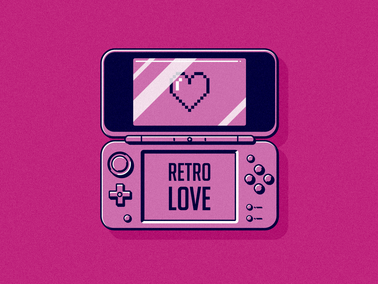 Retro Love flat design retro vector illustration