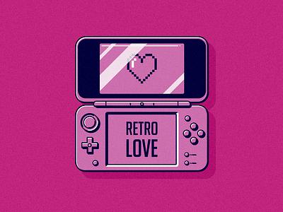 Retro Love flat design retro vector illustration