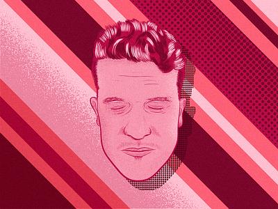 Sleepless Selfie design photoshop illustrator halftones portrait illustration vector