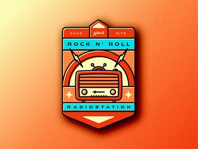 Your favorite Rock n' Roll Radiostation! vintage colour flat design photoshop illustrator retro radio rocknroll illustration vectorart vector