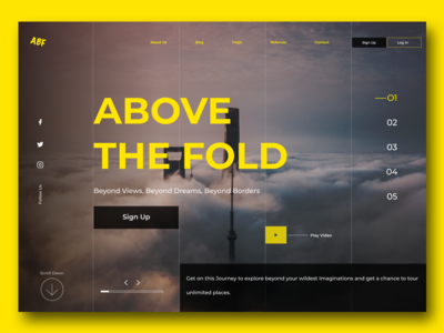 Above the Fold (Daily UI Challenge) #003 Landing Page