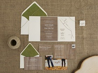 Wood Wedding Stationery