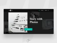 Photography portfolio web design
