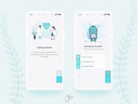 Health App Getting Start UI