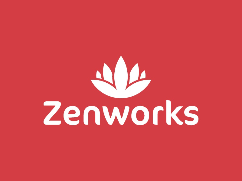Zenworks Logo lotus flower logo energy type custom type identity