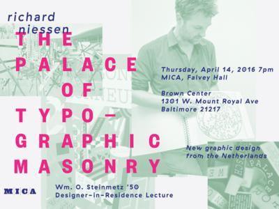 Richard Niessen: The Palace of Typographic Masonry layout type mica netherlands richard niessen poster