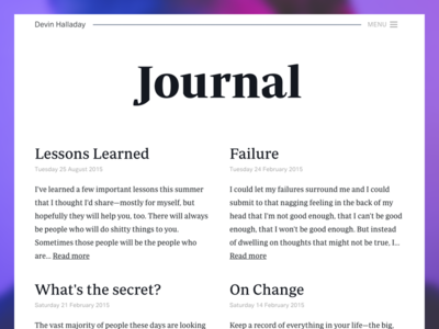 Journal layout idea
