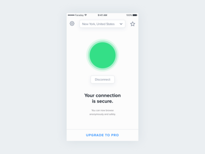 Faraday - VPNs made simple ux ios ui app vpn faraday