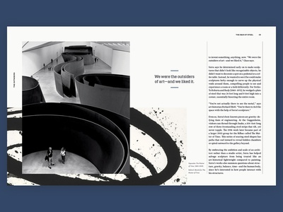 The Man of Steel spread [8–9] typography editorial print mag magazine spread