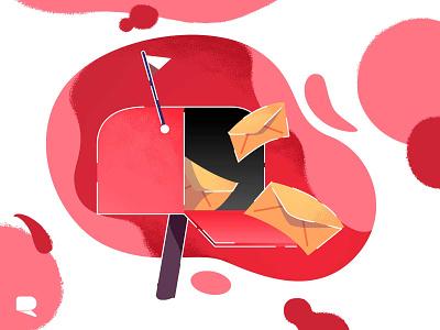 Mail Icon ui  ux vector art illustration