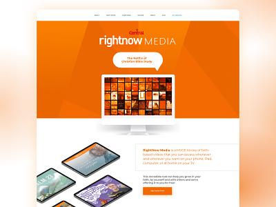 Central's Church Rightnow Media Page adobe xd ui webdesign