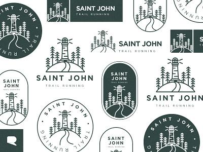 St Jhon trail running Logo running branding illustrator logo