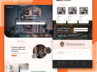 Saih.co page figma ux  ui web design