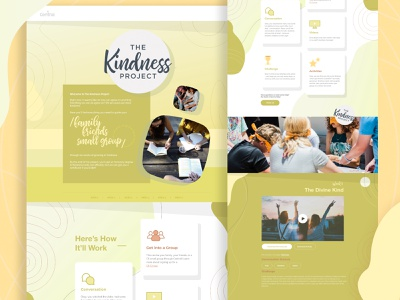 the kindless project Page - 2 landing page webdesign uxui