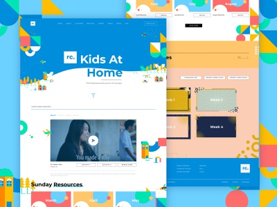Kids resources   1 vector illustration web design figma uiux