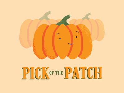 Pick of the Patch illustrator flat pumpkins orange spooky warmup weeklywarmup weekly patch pick fall pumpkin halloween