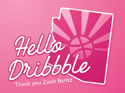 Hello Dribbble debuts baritz zsolt sun arizona az debut shot first dribbble hello