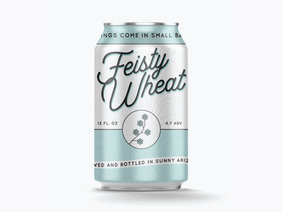 Feisty Wheat batch small arizona mockup can beer wheat feisty