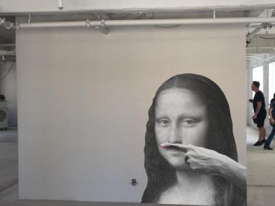 Mona Lisa Wall Mockup