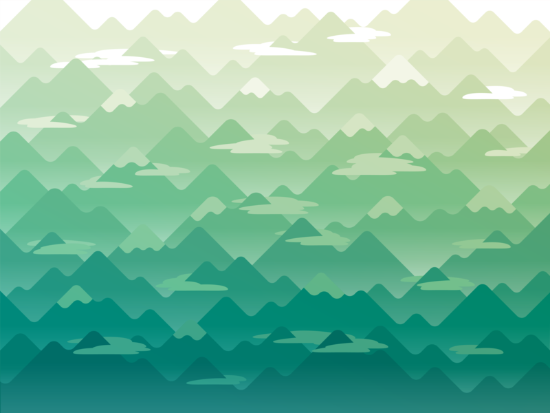 Mountains nature forest green layers layered flat digital mountains mountain