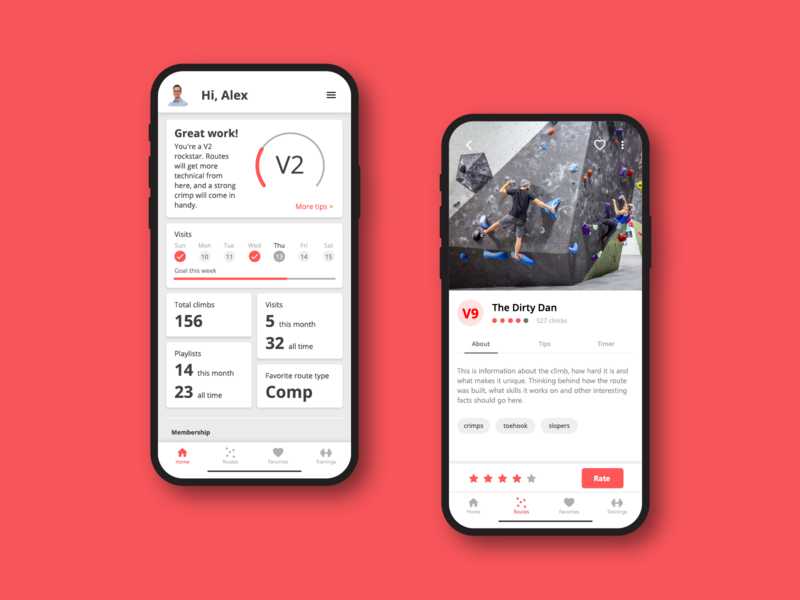 Bouldering Gym UI app mobile iphone 11 adobe xd ios iphone x design ux ui  ux ui indoor climb rock climbing climbing rock gym bouldering