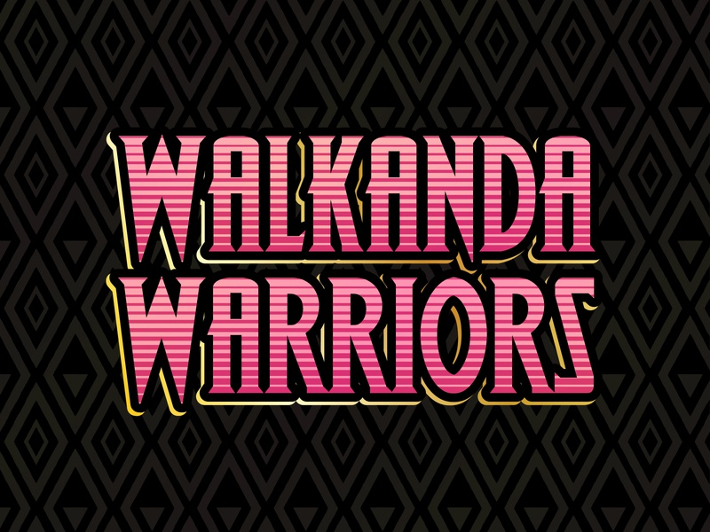 Walkanda Warriors Logo marvel illustrator logo pink black panther wakanda phoenix making strides american cancer society cancer breast cancer