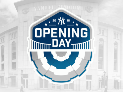 New York Yankees Opening Day Badge