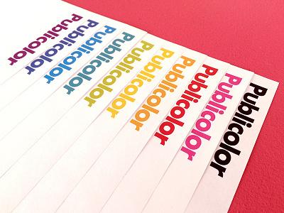 Publicolor letterhead palette color identity branding spectrum vignelli