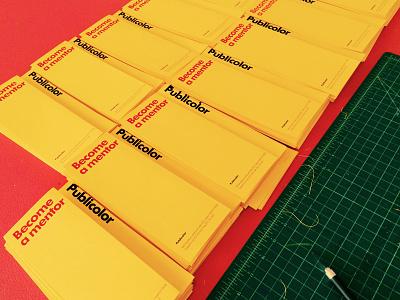 Publicolor Mentorship Brochure publicolor print trifold color