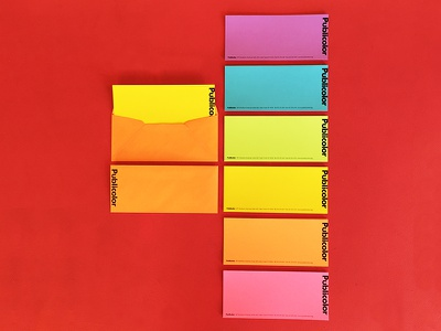 "Publicolor 9x4"" Notecards print notecards stationery publicolor color"
