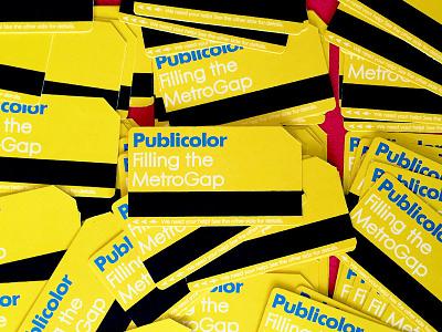 Publicolor - MetroGap Handout Cards nyc metrocard indiegogo publicolor card print