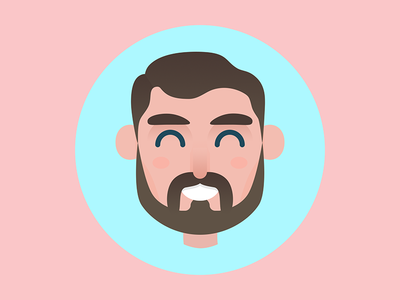 Character - Colin character flat smile friend design cartoon avatar