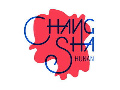 Changsha - Typography name city map china font design typography