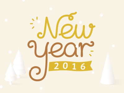 New year 2016 holiday snow tree christmas font 2016 year new year new