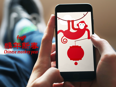 Chinese New Year spring fetival spring lantern monkey new year chinese china